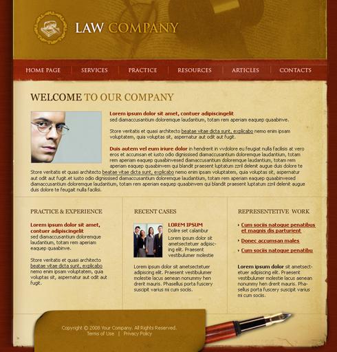 шаблон юридического сайта: