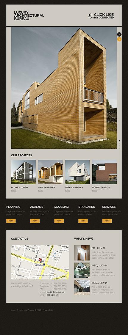 Шаблоны архитектурных сайтов