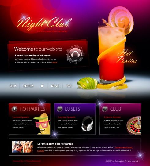шаблоны для ночных клубов
